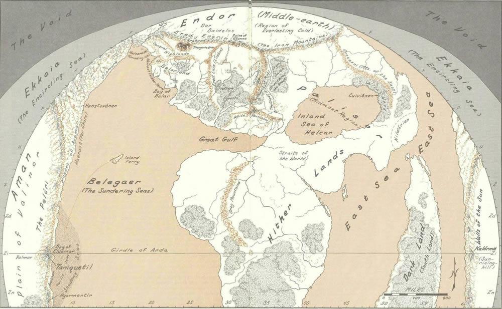 Mapa Tierra Media Hd.Mapa